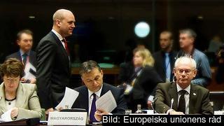 Herman Van Rompuy, till höger, leder veckans EU-toppmöte i Bryssel. Arkivbild.