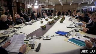 EU-ländernas stats- och regeringschefer diskuterade valutaunionens framtid på fredagen.