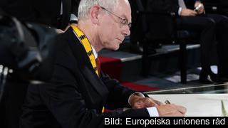 Europeiska rådets ordförande Herman Van Rompuy. Arkivbild.