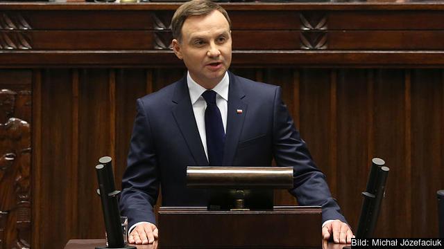 Polen fortsätter att utmana EU. I veckan svor landets president Andrzej Duda in 27 nya domare som ska ersätta dem som tvångspensionerats trots EU:s vädjan. Arkivbild.
