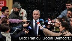 Liviu Dragnea ledaren för den rumänska socialdemokratiska regeringspartiet PSD har tidigare dömts för bland annat valfusk och maktmissbruk. Arkivbild.