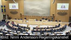 Statsminister Stefan Löfven redogör i riksdagen för regeringens EU-prioriteringar för de kommande åren.
