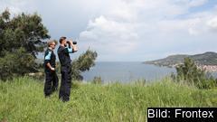 Hittills har Frontex inte haft några egna kust- och gränsvakter utan arbetat med utsänd personal från medlemsländerna. På bilden under operation Poseidon i Grekland. Arkivbild.