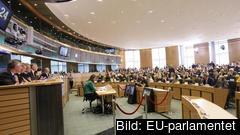 Sveriges nuvarande EU-kommissionär Cecilia Malmström när hon frågades ut i EU-parlamentet för fem år sedan. Arkivbild.