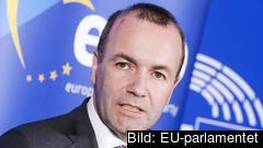 Den tyske kristdemokratiske EU-parlamentarikern Manfred Weber kan bli EU-kommissionens nästa ordförande. Arkivbild.