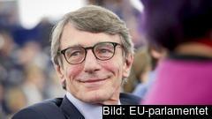 EU-parlamentets nye talman, den italienske socialdemokraten David Sassoli under onsdagens omröstning.