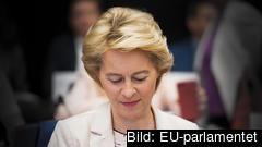 På onsdag avgörs hur stort stödet för Ursula von der Leyens kommission är i EU-parlamentet. Arkivbild.