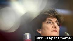 Den franska liberala EU-kommissionärskandidaten Sylvie Goulard under onsdagens utfrågning i EU-parlamentet.