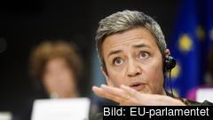 Margrethe Vestager fick förnyat förtroende från EU-parlamentet efter tisdagens utfrågning.