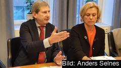 EU:s budgetkommissionär Johannes Hahn vill att Sverige visar större solidaritet med fattigare EU-länder och betalar en högre EU-avgift jämfört med idag.