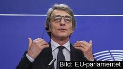 EU-parlamentets talman David Sassoli är en italiensk socialdemokrat. Arkivbild.