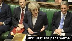 Den brittiska premiärministern Theresa May presenterade i måndags sin plan B för EU-utträdet. Arkivbild