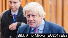 Premiärminister Boris Johnson menade att måndagens presskonferens riskerade att överröstas av demonstranter och ställde därför in. Arkivbild.