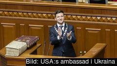 Den 20 maj 2019 när Ukrainas nya president Volodymyr Zelensky tillträde som statschef.