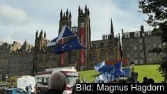 Demonstrationer på onsdagen i skotska Edinburgh.