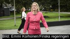Finansminister Magdalena Andersson anländer till det informella mötet i Helsingfors.