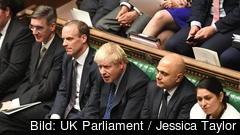 Storbritanniens premiärminister Boris Johnson hade tidigare sagt sig hellre ligga död i ett dike än att be om en förlängning av brexitförhandlingarna. Arkivbild.