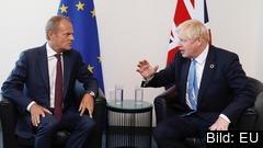 Europeiska rådets ordförande Donald Tusk hade tidigare satt i dag fredag som tidsfrist för britterna att lämna in genomförbara brexitförslag för att frågan skulle kunna diskuteras på nästa veckas EU-toppmöte. Arkivbild.