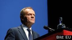 Europeiska rådets ordförande Donald Tusk under sitt tal på onsdagen i belgiska Brygge.