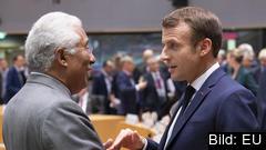 Portugals premiärminister Antonio Costa och Frankrikes president Emmanuel Macron. Arkivbild