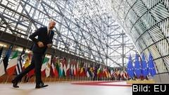 Europeiska rådets ordförande Charles Michel på språng.