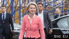 Tysklands försvarsminister Ursula von der Leyen nämns som möjlig ny kommissionsordförande men än är inget klart. Arkivbild.