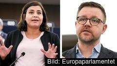 Europaparlamentarikerna Abir Al-Sahalni (C) och Fredrick Federley (C) vill att EU ska spela en mer framträdande roll när det krishantering än idag.