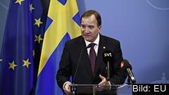 Stefan Löfven efter EU-toppmötet på fredagen.