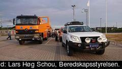 En konvoj med danska släcknings- och transportfordon startade i morse från Själland och är på väg till Gävleborg.