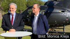 EU-kommisionären Christos Stylianides och inrikesminister Mikael Damberg (S).