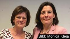 Marie Granlund, gruppledare för socialdemokraterna i riksdagens EU-nämnd och Karin Enström, gruppledare för moderaterna i EU-nämnden.