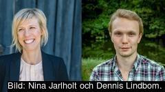 Liberalerna Maria Nilsson riksdagsledamot och Anders Rehnberg, kandidat till Europaparlamentet.