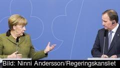 Tysklands förbundskansler Angela Merkel och Sveriges statsminister Stefan Löfven (S) ha träffats sex gånger på tu man hand. Arkivbild.