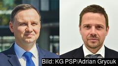 Andrzej Duda och Rafał Trzaskowski möts i en avgörande presidentvalsomgång den 12 juli.