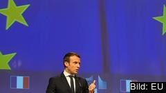 Frankrikes liberale president Emmanuel Macron. Arkivbild.