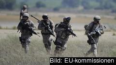 Bilden är tagen under en militär övning med Europeiska centret för flygträning i Spanien 2017.