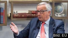 EU-kommissionens ordförande Jean-Claude Juncker under torsdagens intervju.
