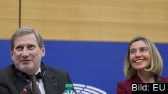 EU-kommissionärer Johannes Hahn och Federica Mogherini.