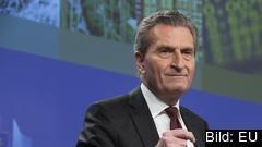 EU:s budgetkommissionär, den tyske kristdemokraten Günther Oettinger.