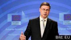 EU:s eurokommissionär Valdis Dombrovskis.
