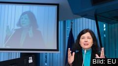 EU:s rättighetskommissionär Věra Jourová. Arkivbild.