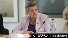 Ylva Johansson säger att de grekiska öarna redan är mer eller mindre i karantän, ingen får komma in i lägren.