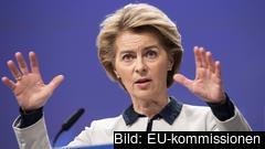 """""""Vi föreslår att riktlinjer ska tas fram på EU-nivå för hälsokontroller vid gränserna"""", säger Ursula von Der Leyen."""
