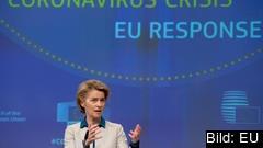 EU-kommissionens ordförande Ursula von der Leyen presenterar rekommendationer för hur medlemsländerna bör lätta på coronarestriktioner.