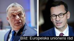 Ungerns premiärminister Viktor Orbán och Polens premiärminister Mateusz Morawieck.
