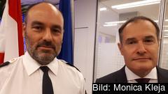 Patrik Engström, chef för svenska gränspolisen, och Fabrice Leggeri, vd för Frontex.