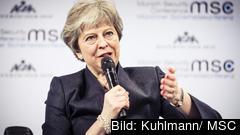 Den brittiska premiärministern Theresa May är under hårt tryck att ro hem ett brexitavtal.