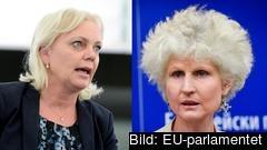 EU-parlamentariker Kristina Winberg (SD) och Anna Maria Corazza Bildt (M). Bilden är ett collage.