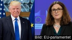 Imorgon ska EU:s handelskommissionär Cecilia Malmström försöka övertala Donald Trump att slopa tanken på höjda amerikanska biltullar.