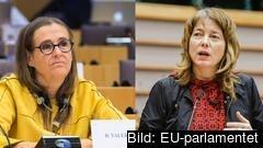 EU-parlamentarikerna Bodil Valero (MP) och Malin Björk (V). Arkivbild.